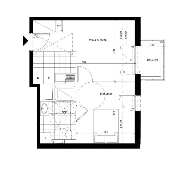 Produit d'investissement appartement Bezons 177000€ - Photo 1