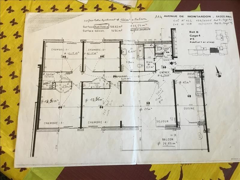 Venta  apartamento Pau 170000€ - Fotografía 5