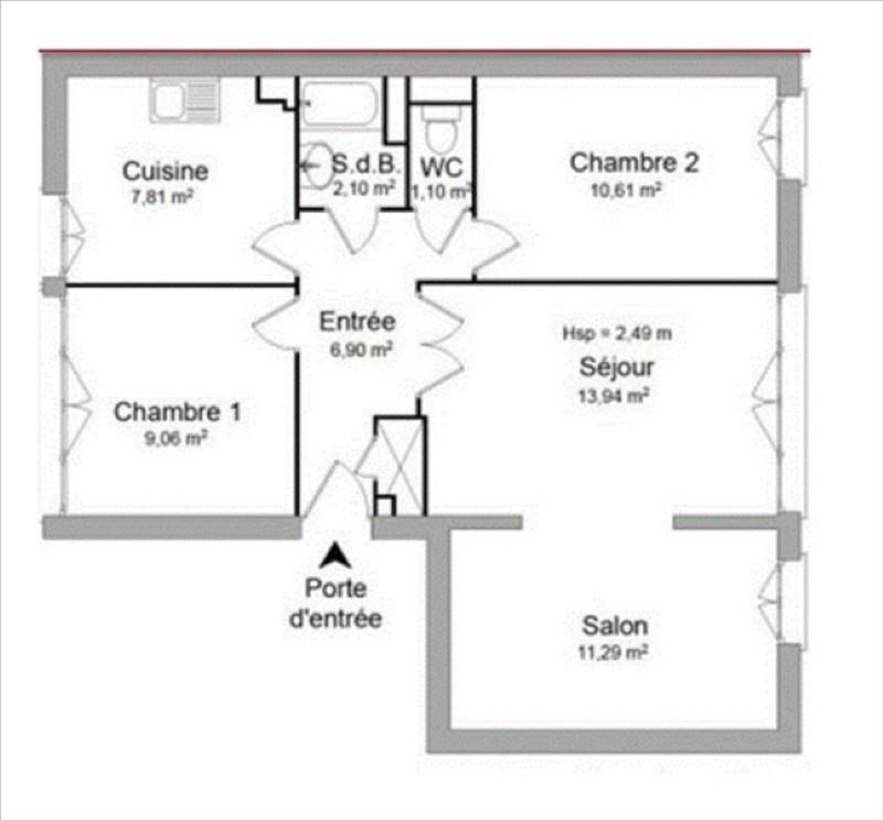 Vente appartement Chatillon 285000€ - Photo 8