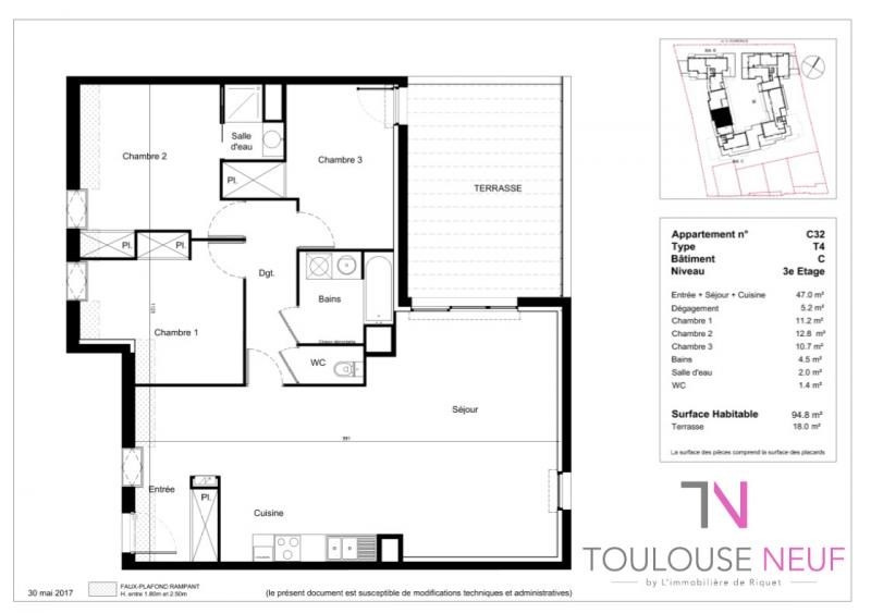 Vente appartement Tournefeuille 305 900€ - Photo 3