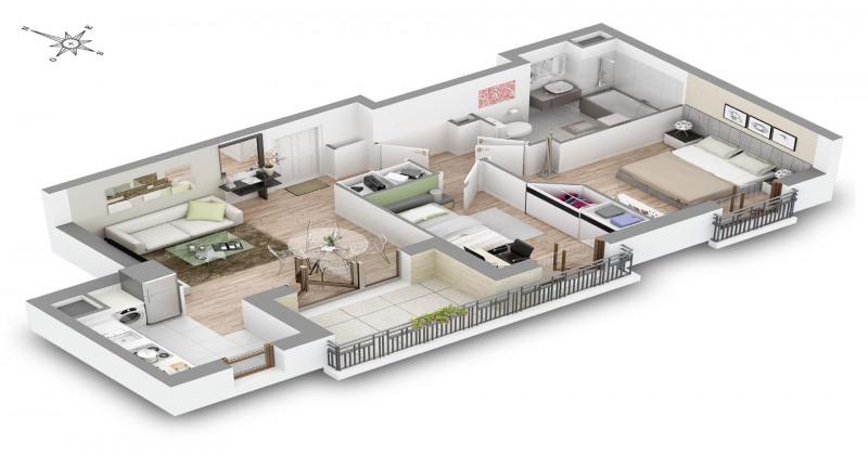 Vente appartement Châtillon 369000€ - Photo 8