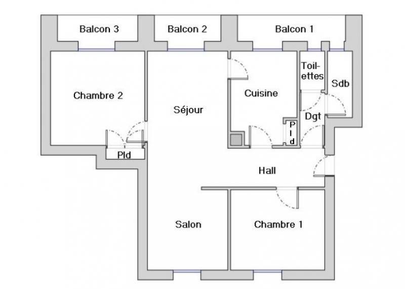 Vendita appartamento Valence 94500€ - Fotografia 2