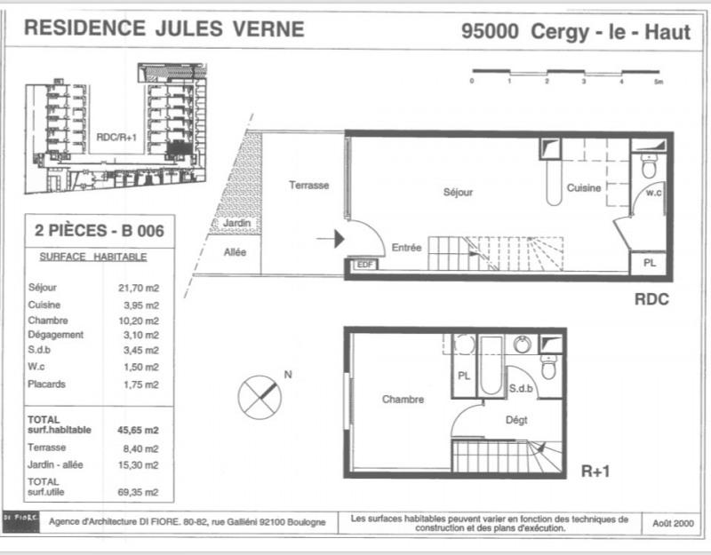Vente appartement Cergy 119900€ - Photo 3