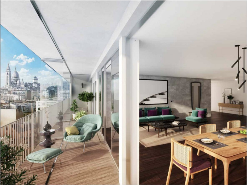 Vente de prestige appartement Paris 18ème 2 070 000€ - Photo 2