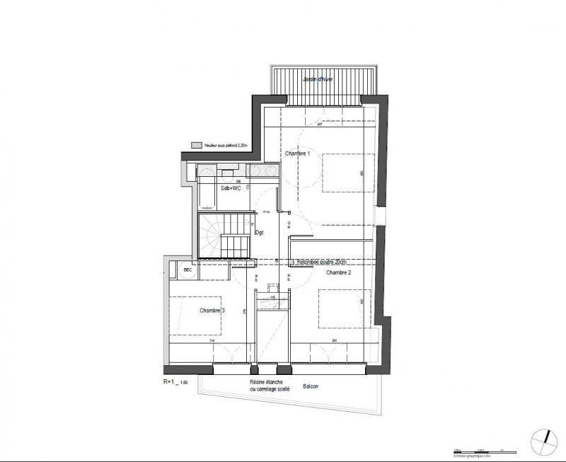Venta  apartamento Clamart 650000€ - Fotografía 4