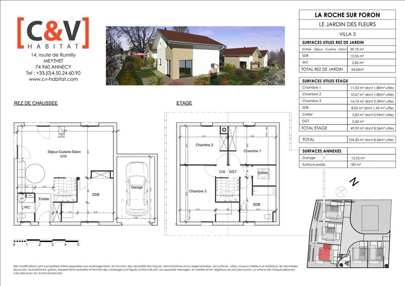 Sale house / villa La roche sur foron 369900€ - Picture 2