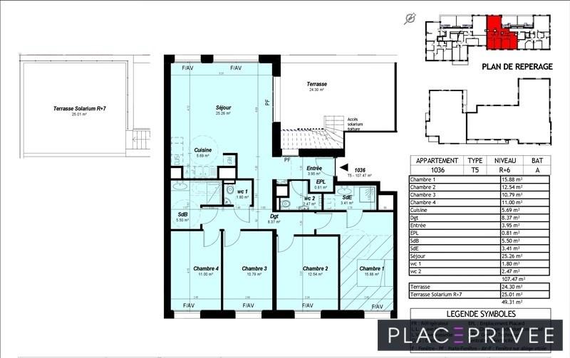 Sale apartment Nancy 495000€ - Picture 3