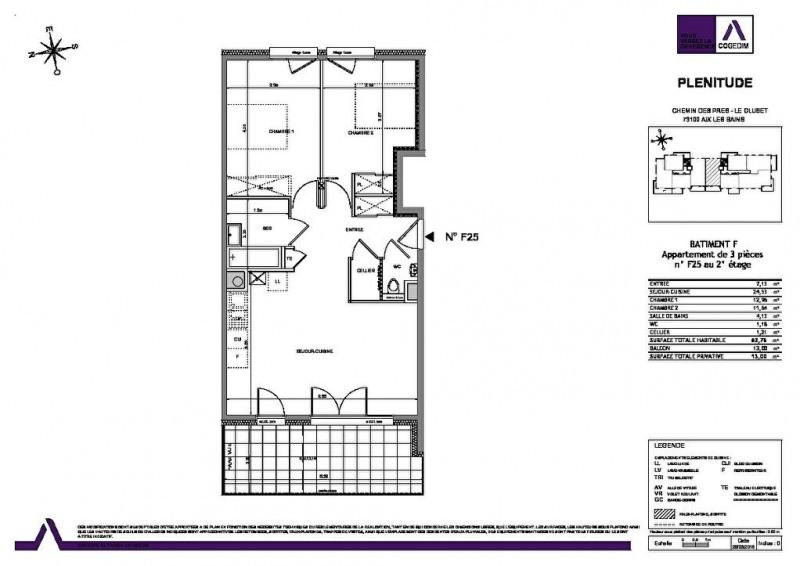 Sale apartment Aix les bains 270000€ - Picture 2