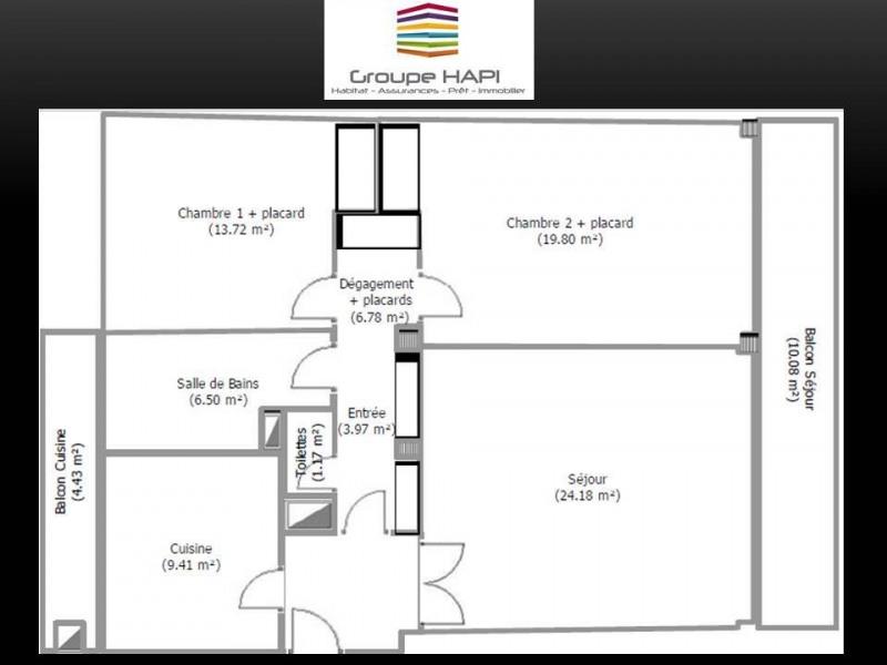 Revenda residencial de prestígio apartamento Grenoble 272000€ - Fotografia 6