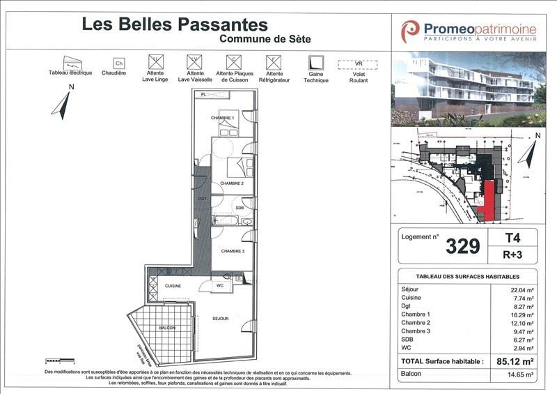 Location appartement Sete 905€ CC - Photo 1