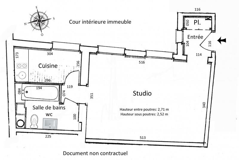 Vente appartement Paris 1er 395000€ - Photo 3