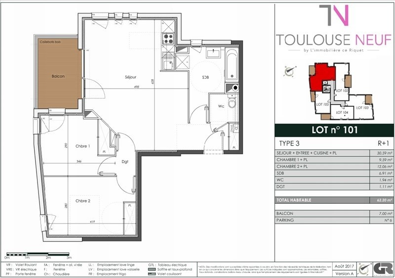 Vente appartement Toulouse 362000€ - Photo 10
