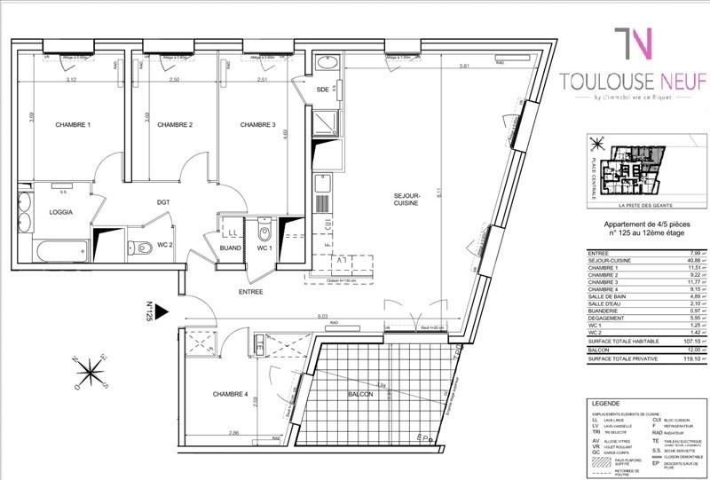 Vente appartement Toulouse 319000€ - Photo 6