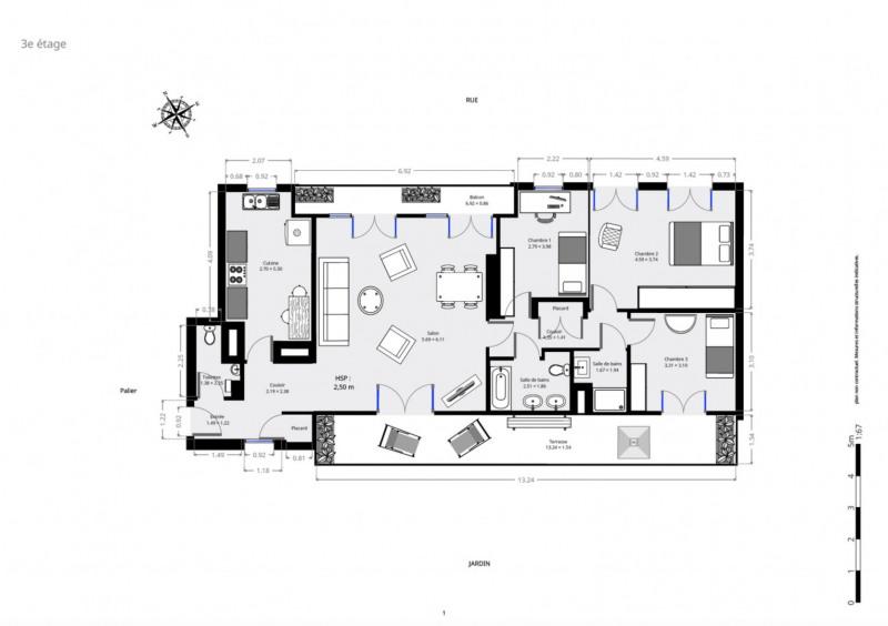 Deluxe sale apartment Paris 15ème 1399000€ - Picture 9