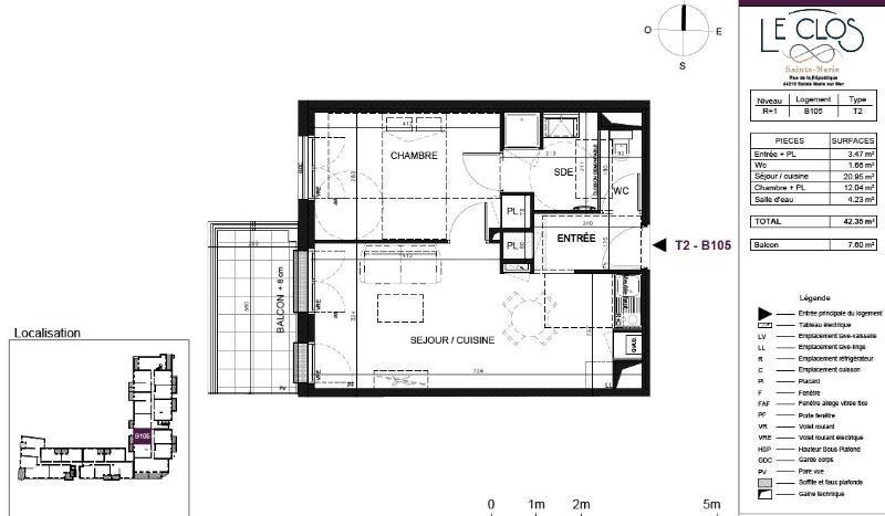 Rental apartment Ste marie 555€ CC - Picture 2