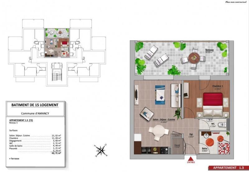 Venta  apartamento Amancy 169000€ - Fotografía 9