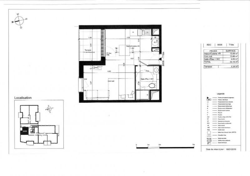 Venta  apartamento Angers 115000€ - Fotografía 5