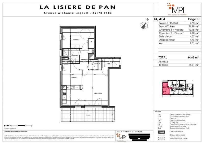 Vente appartement Bruz 248 000€ - Photo 10