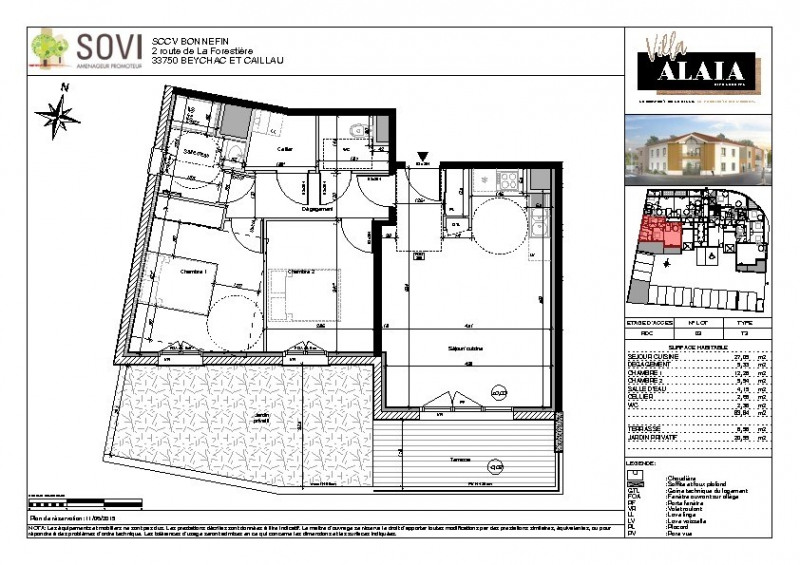 Vente appartement Biscarrosse 262000€ - Photo 2