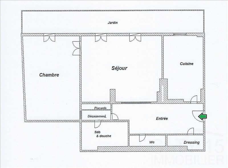Vente appartement Paris 15ème 598000€ - Photo 3