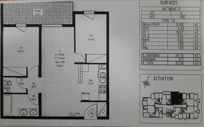 Location appartement Bois de nefles st denis 670€ CC - Photo 2