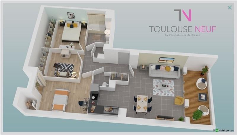 Vente appartement Tournefeuille 280000€ - Photo 2