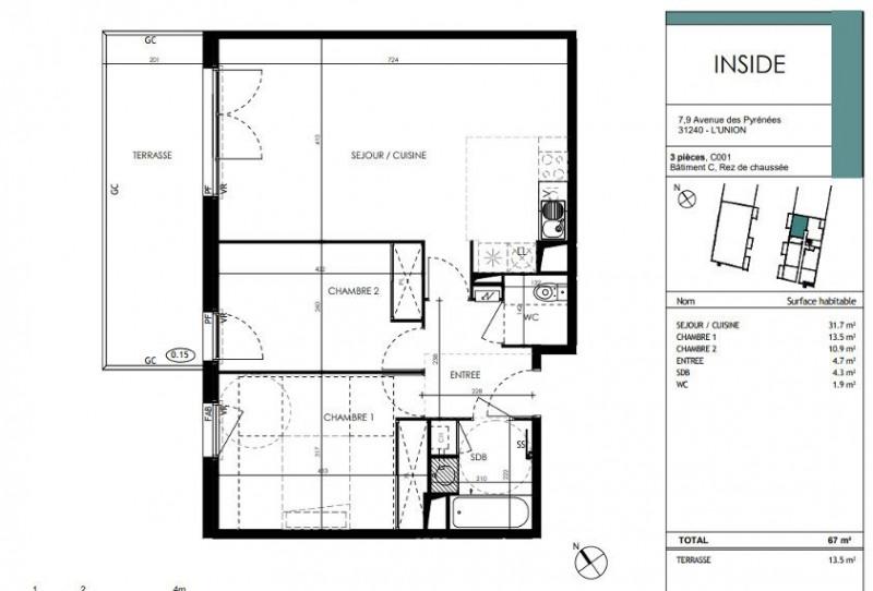 Vente appartement L'union 248000€ - Photo 3