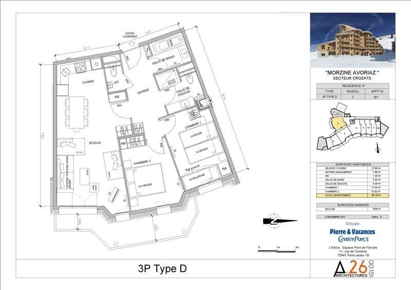 Vente de prestige appartement Avoriaz 553000€ - Photo 5
