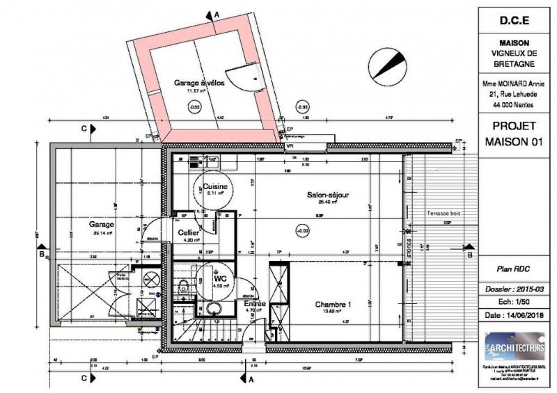 Vente maison / villa Vigneux de bretagne 368900€ - Photo 3