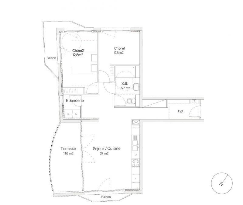 Sale apartment Bordeaux 342630€ - Picture 3