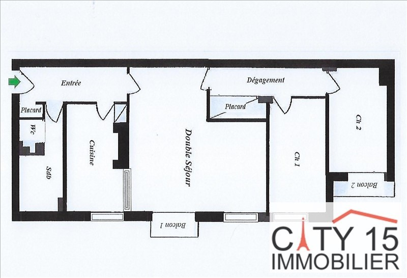 Venta  apartamento Paris 15ème 689000€ - Fotografía 6
