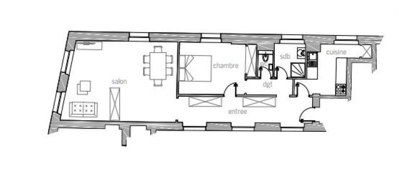 Revenda residencial de prestígio apartamento Paris 3ème 1291000€ - Fotografia 2