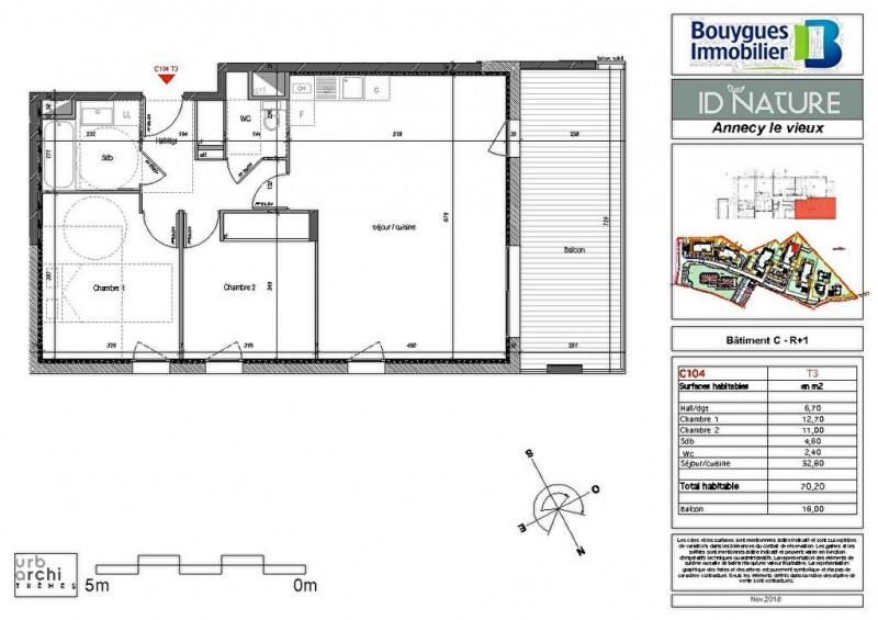 Sale apartment Annecy le vieux 417000€ - Picture 2