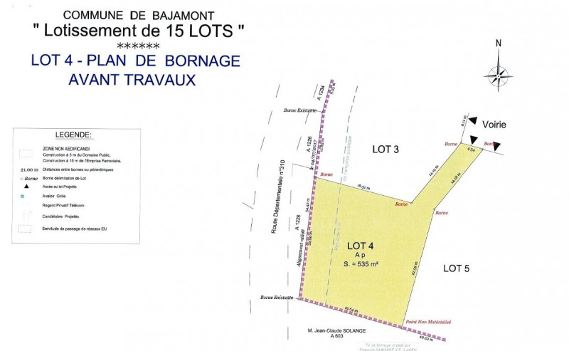 Sale site Bajamont 41 000€ - Picture 1