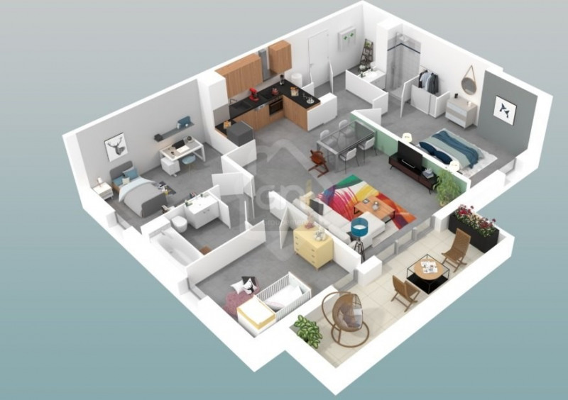 Vente appartement Marseille 11ème 341000€ - Photo 3