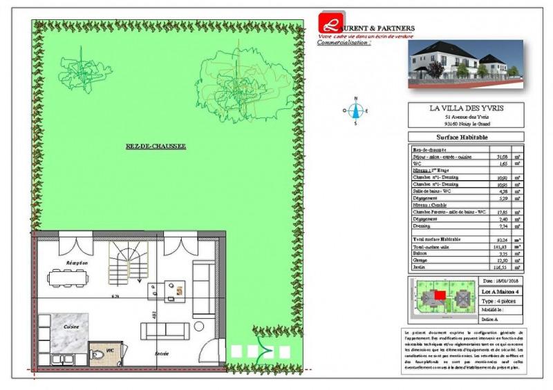 Vente maison / villa Noisy le grand 350000€ - Photo 18
