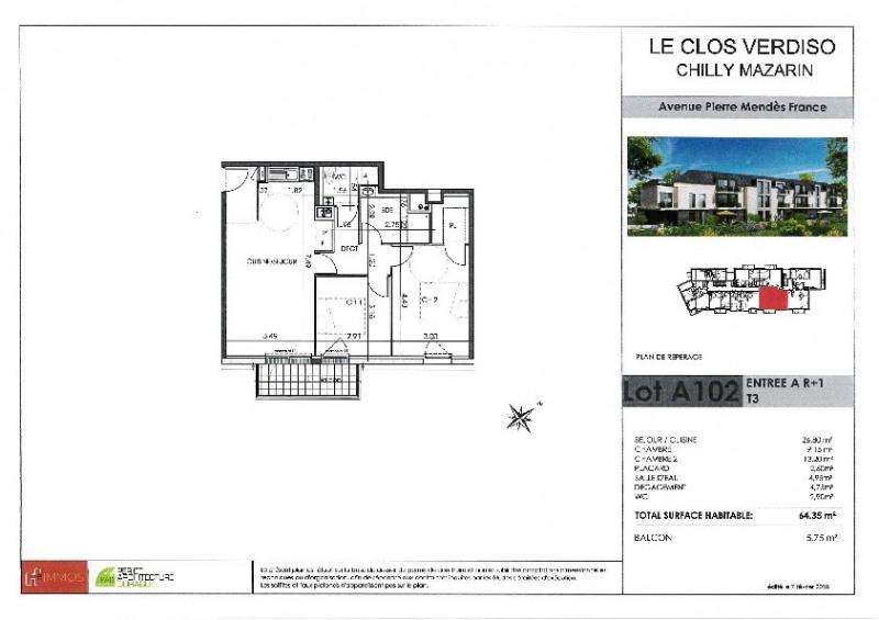Venta  apartamento Chilly mazarin 258000€ - Fotografía 2