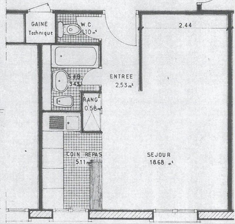 Rental apartment Bures sur yvette 668€ CC - Picture 2