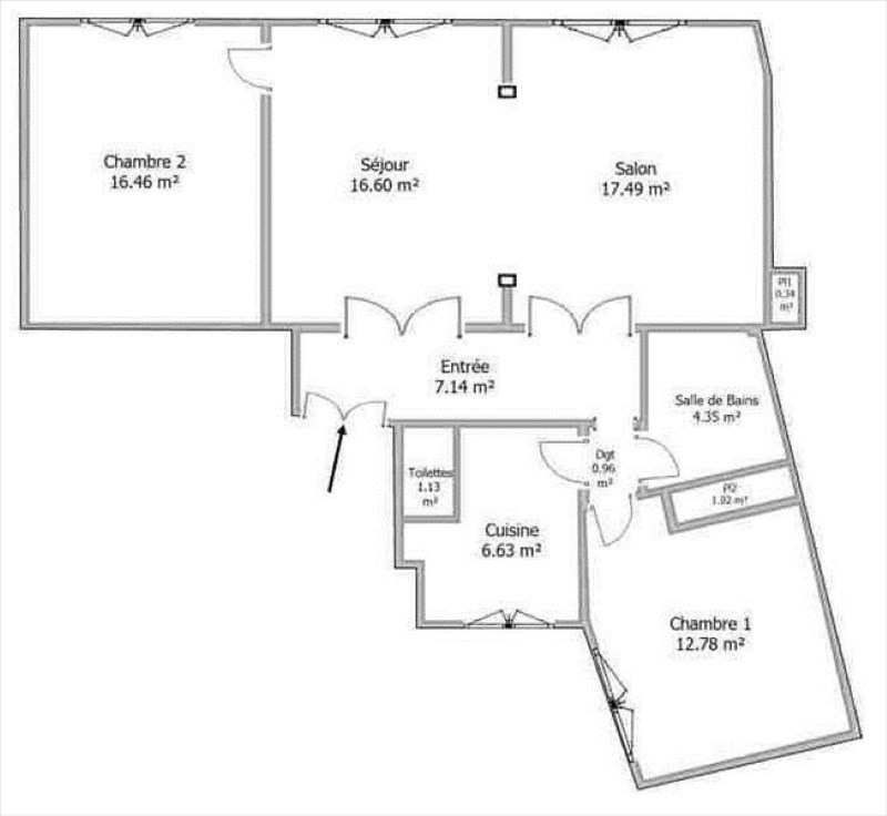 Vente appartement Suresnes 490000€ - Photo 3